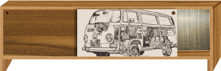 side cabinet with art canvas vw