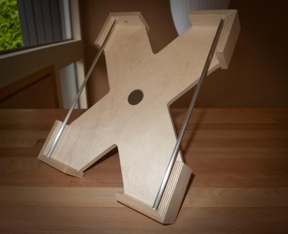 Custom Wood iPad Stand