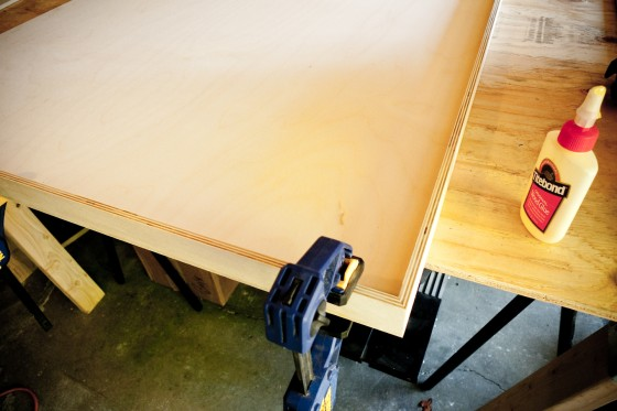 Plywood canvas and edge