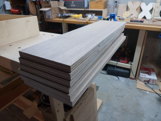 Walnut Drawer Fronts