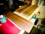 Walnut Drawer Fronts Finishing Process