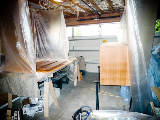 Makeshift Spray Booth