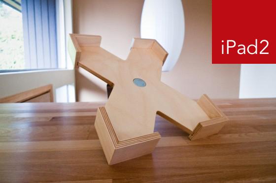 wood ipad2 stand